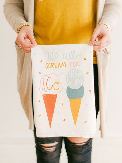We All Scream for Ice Cream Flour Sack Towel