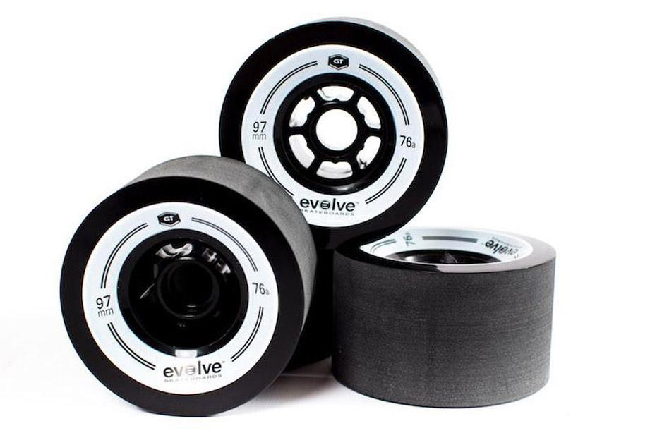 Black Evolve GT 97mm Wheels (set of 4)