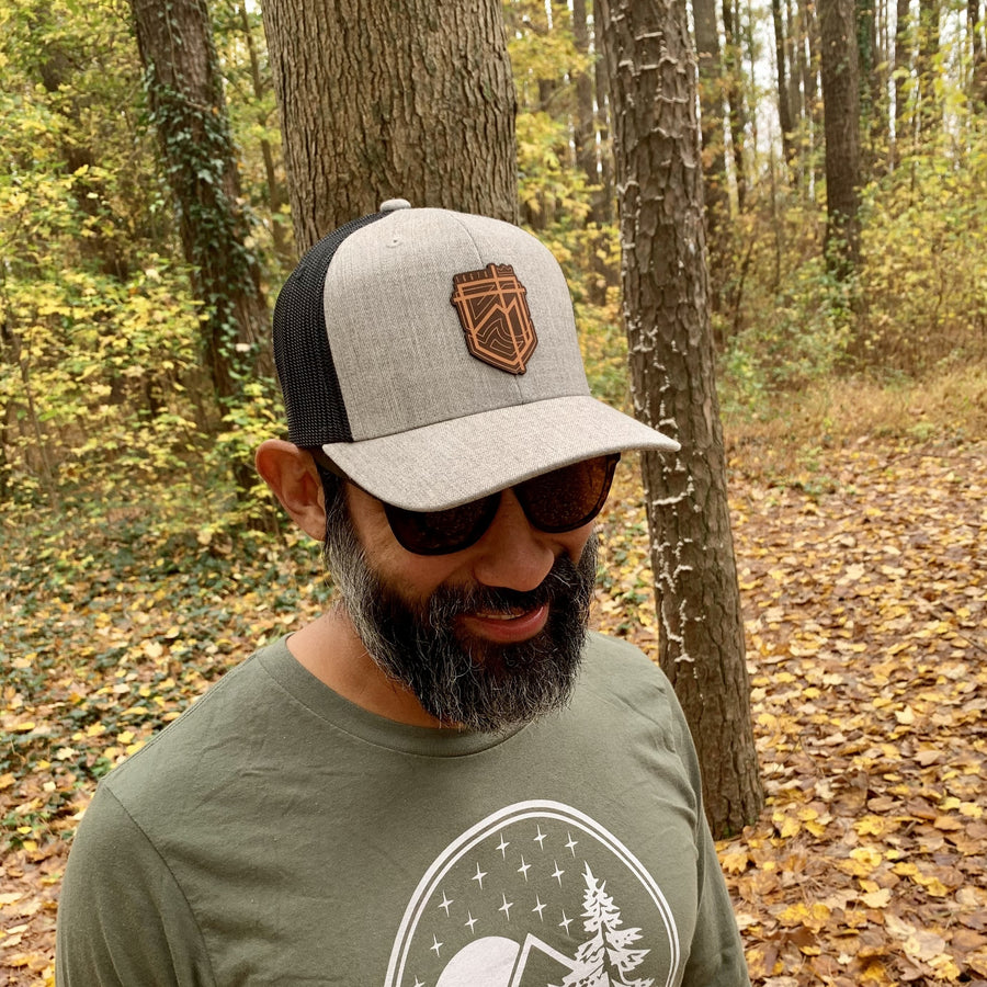 Shield of Love Heather Grey Trucker