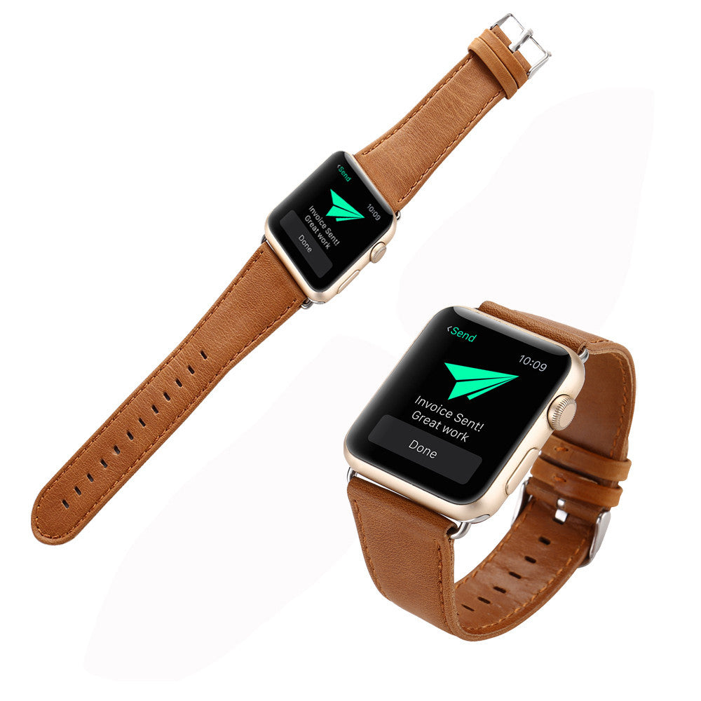 Leatherckle Wrist Watch Band Strap Belt for  Watch Apple Watch 38mm - Gold Luxury Timepiece Co.