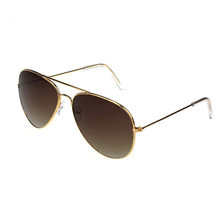 GL Mica Aviator Style Sunglasses - Brown