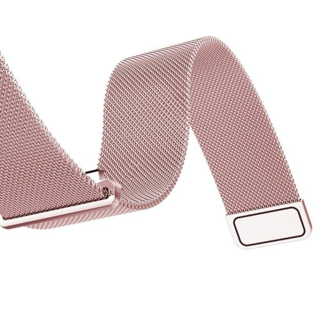 Customized Milanese Steel Watch Strap - Pink