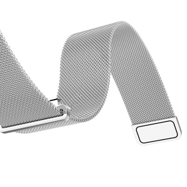 Customized Milanese Steel Watch Strap - Silver