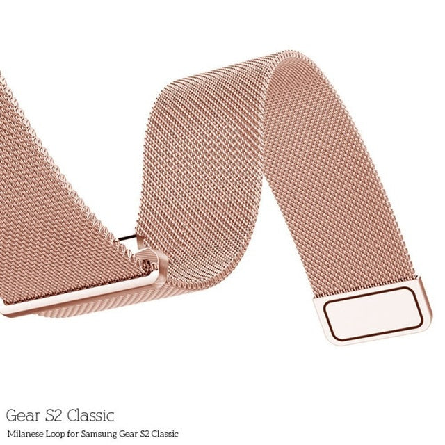 Customized Milanese Steel Watch Strap - Rose Gold