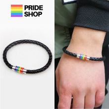 Load image into Gallery viewer, Pride Leather Bracelet