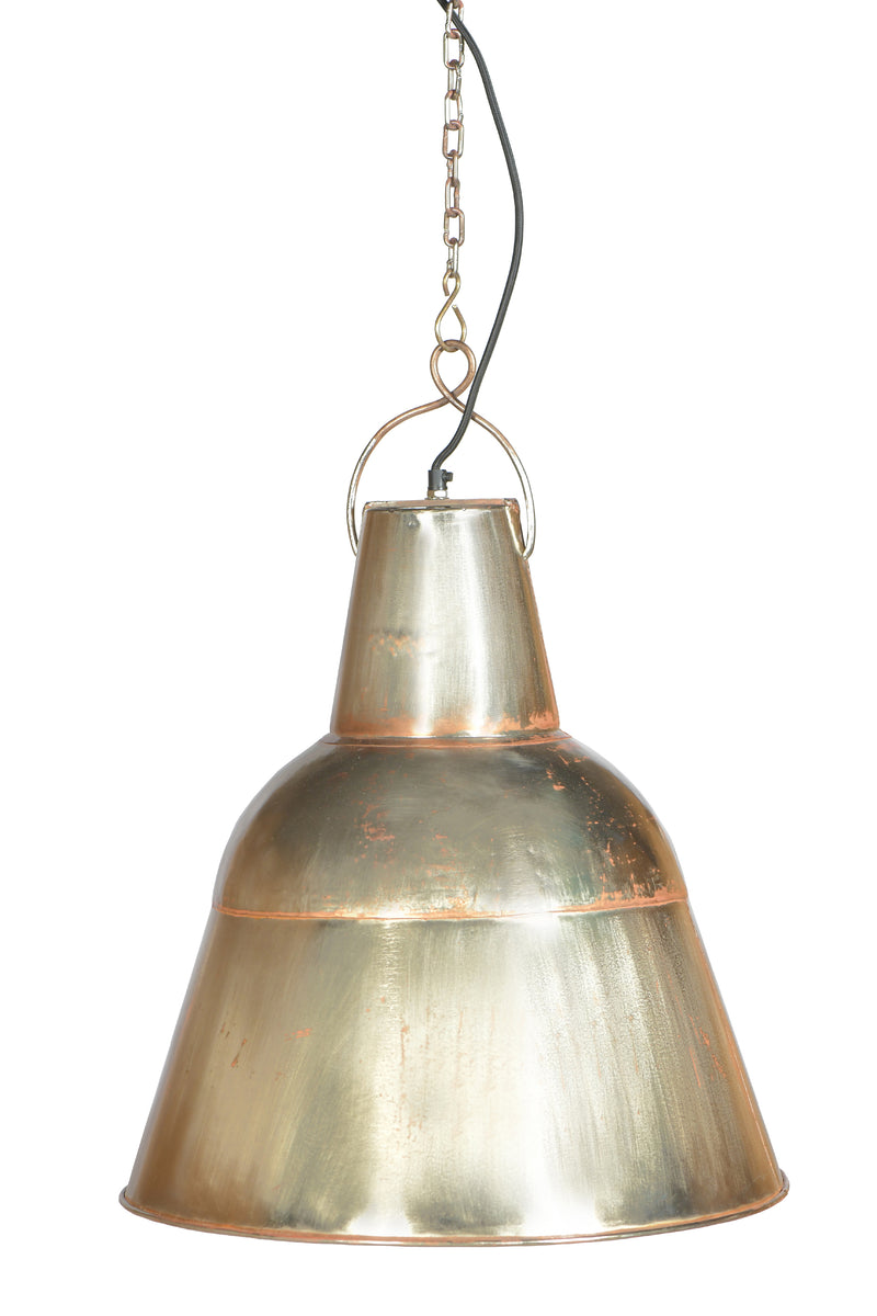 Koln - Zinc/Copper - Tall Iron Dome Pendant Light