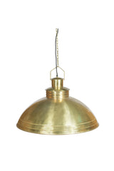 Sheldon - Antique Brass - Large Iron Shallow Dome Pendant Light