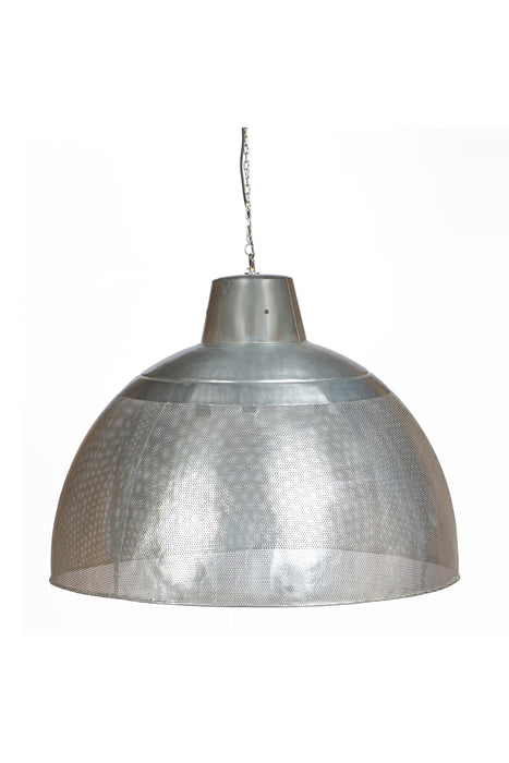 Riva Extra Large - Zinc - Perforated Iron Dome Pendant Light