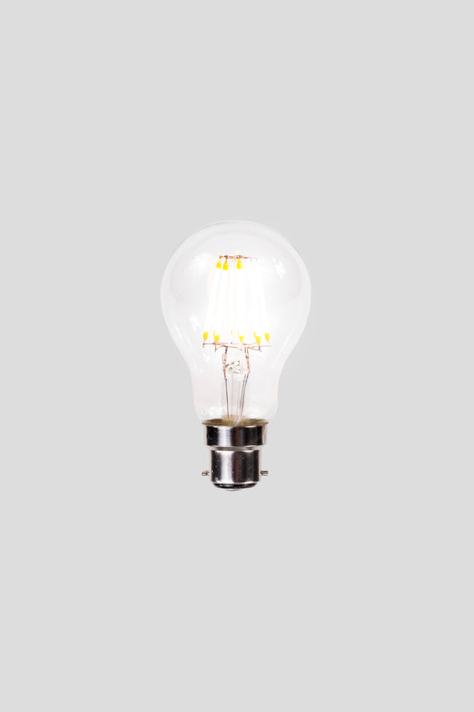 A60 LED Filament - Clear Glass - 6W B22 2200k