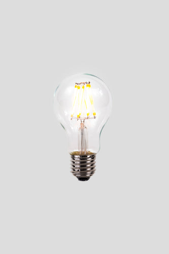 A60 LED Filament - Clear Glass - 6W E27 2200k