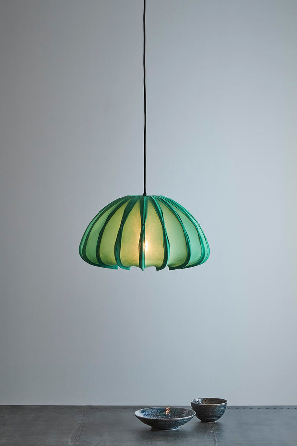 Anemone - Jade Green - Cotton Lantern Pendant Light