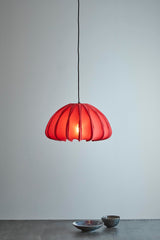 Anemone - Deep Red - Cotton Lantern Pendant Light