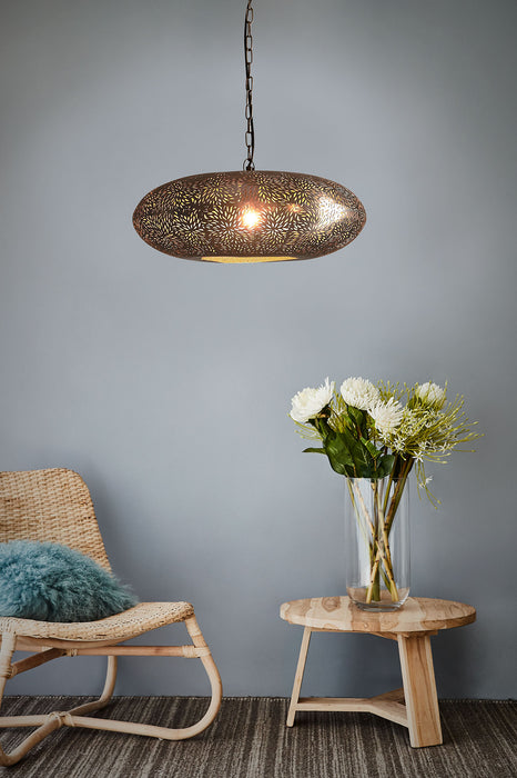 Atlas - Nickel - Perforated Ellipse Pendant Light