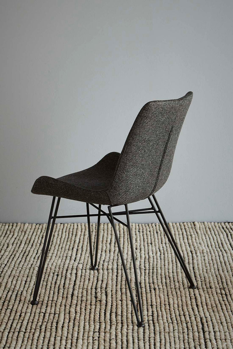 Brooklyn Chair - Dark Grey/Black - Fabric Upholstered Chair