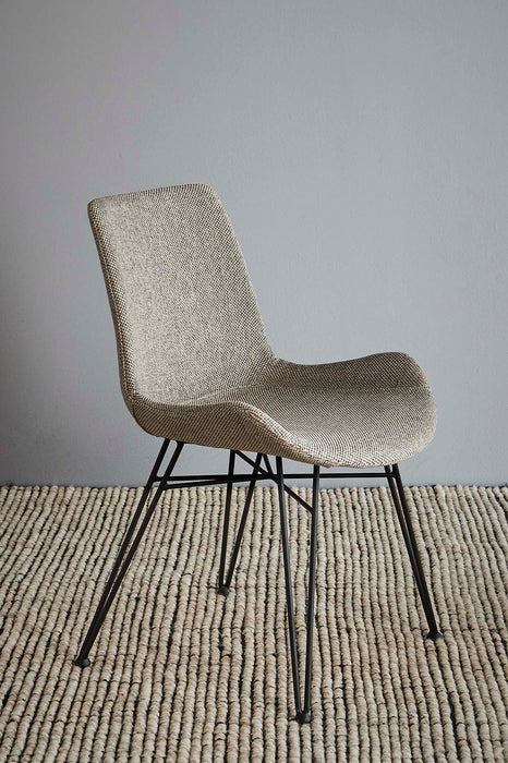 Brooklyn Chair - Light Grey/Black - Fabric Upholstered Chair