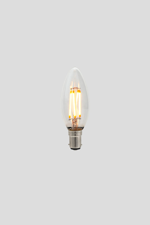C35 Candle LED Filament - Clear Glass - 3W B15 2200k
