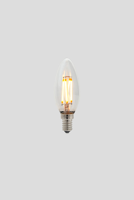 C35 Candle LED Filament - Clear Glass - 3W E14 2200k