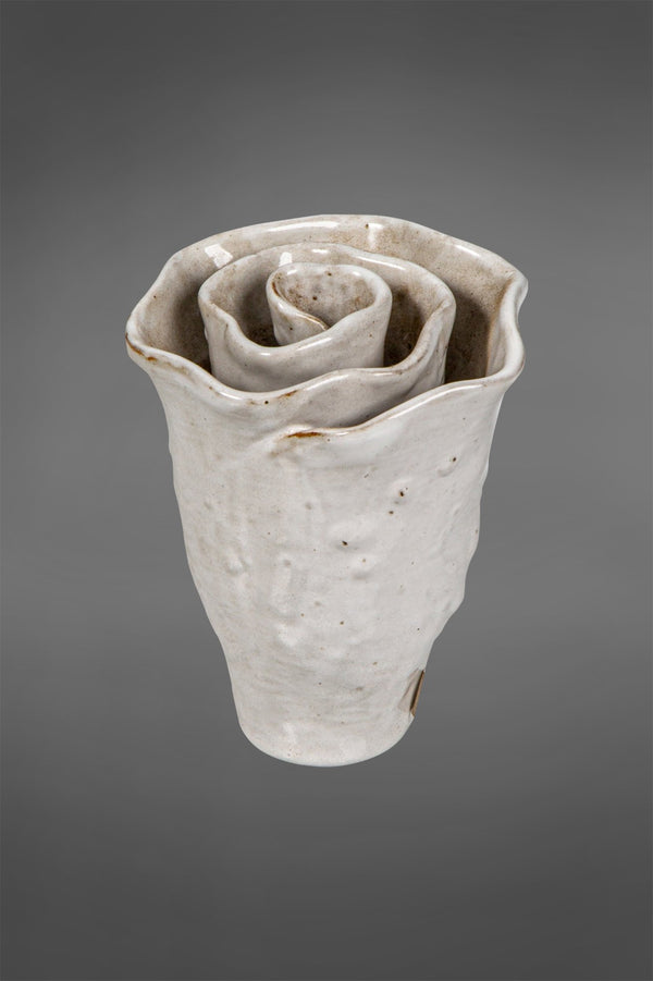 Rose - White - Ornamental Ceramic Rose