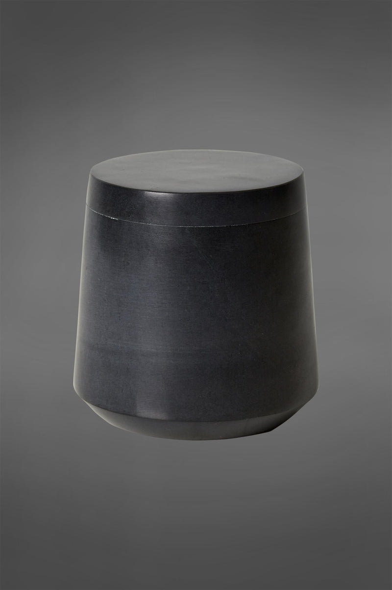 Chennai Cannister - Black - Marble Cannister with Lid