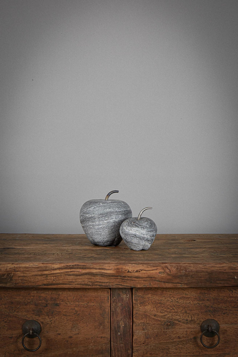 Apple Small - Black - Carved Marble Apple