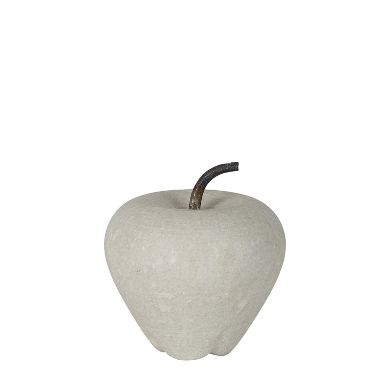 Apple Small - White - Carved Marble Apple