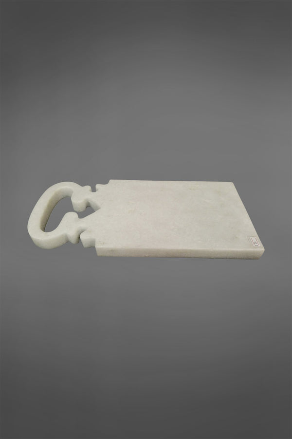 Jaipur Board Small - White - Carved Marble Board with 1 Handle