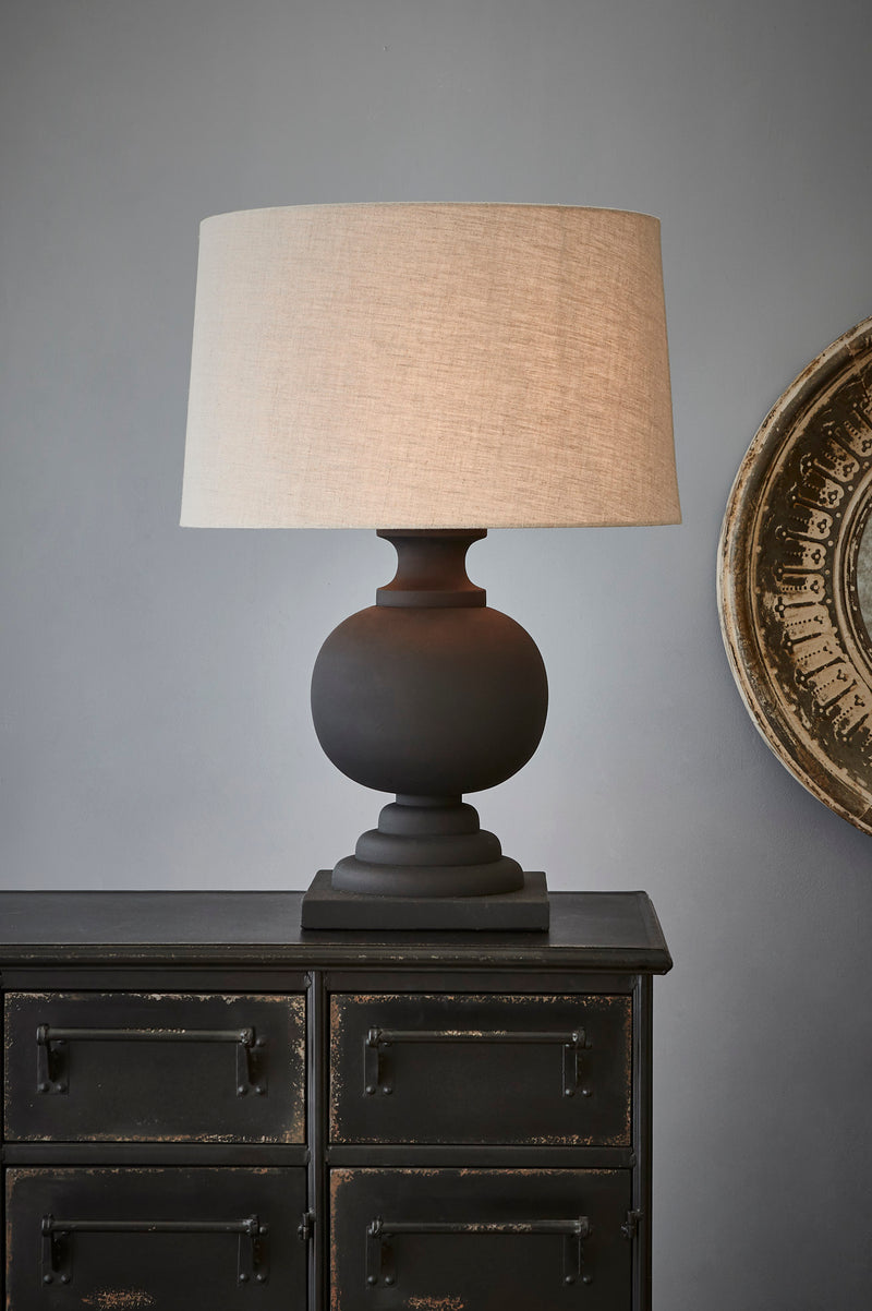 Coach - Black - Turned Wood Ball Balustrade Table Lamp