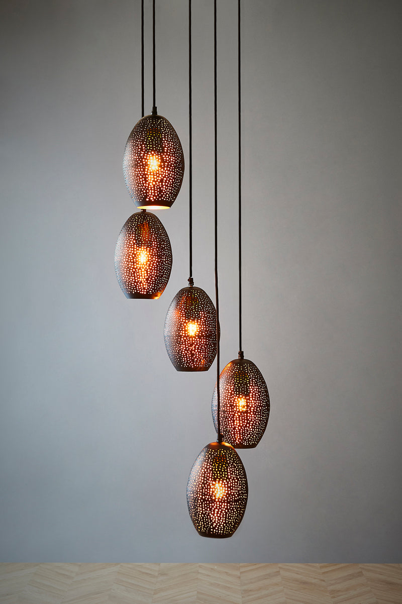 Constellation - Black - Perforated Pendant Light Cluster