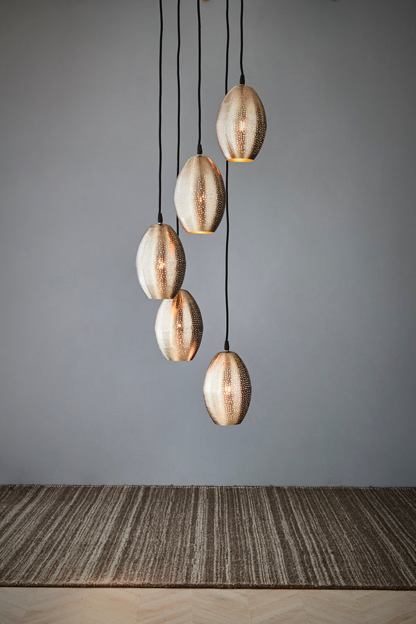 Constellation - Nickel - Perforated Pendant Light Cluster