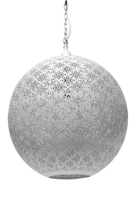 Callisto - White - Perforated Round Pendant Light
