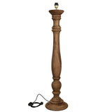 Candela Large - Dark Natural - Turned Wood Candlestick Floor Lamp