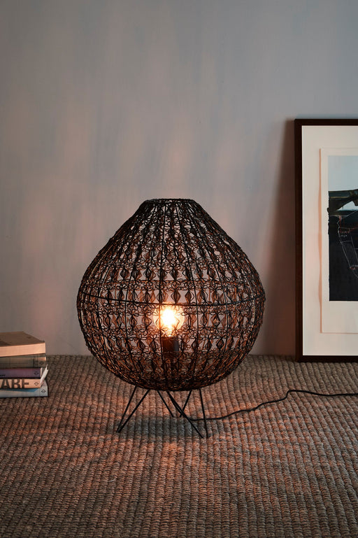 Cocoon Table Large - Black - Wire Weave Oval Table Lamp