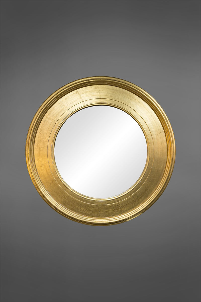Chelsea - Gold - 95cm Diameter Wood Framed Circular Mirror
