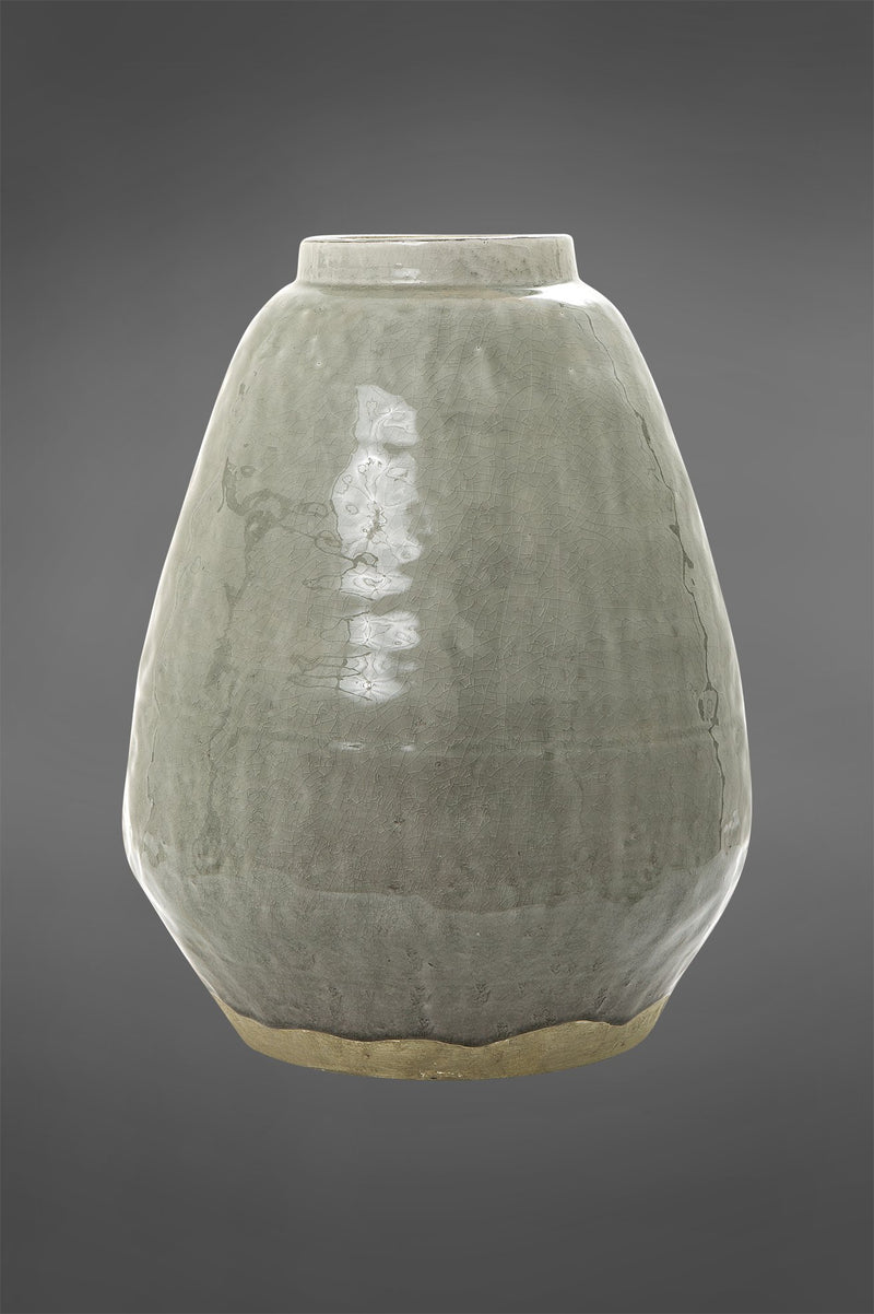 Sayge Small - Sage - 40cm Tall Glazed Rustic Ceramic Vase