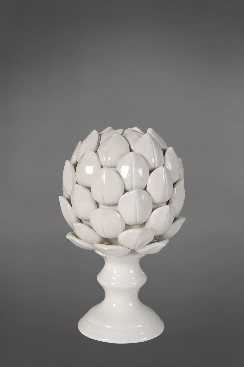 Artichoke Small - White - Glazed Ceramic Decorativ e Articoke