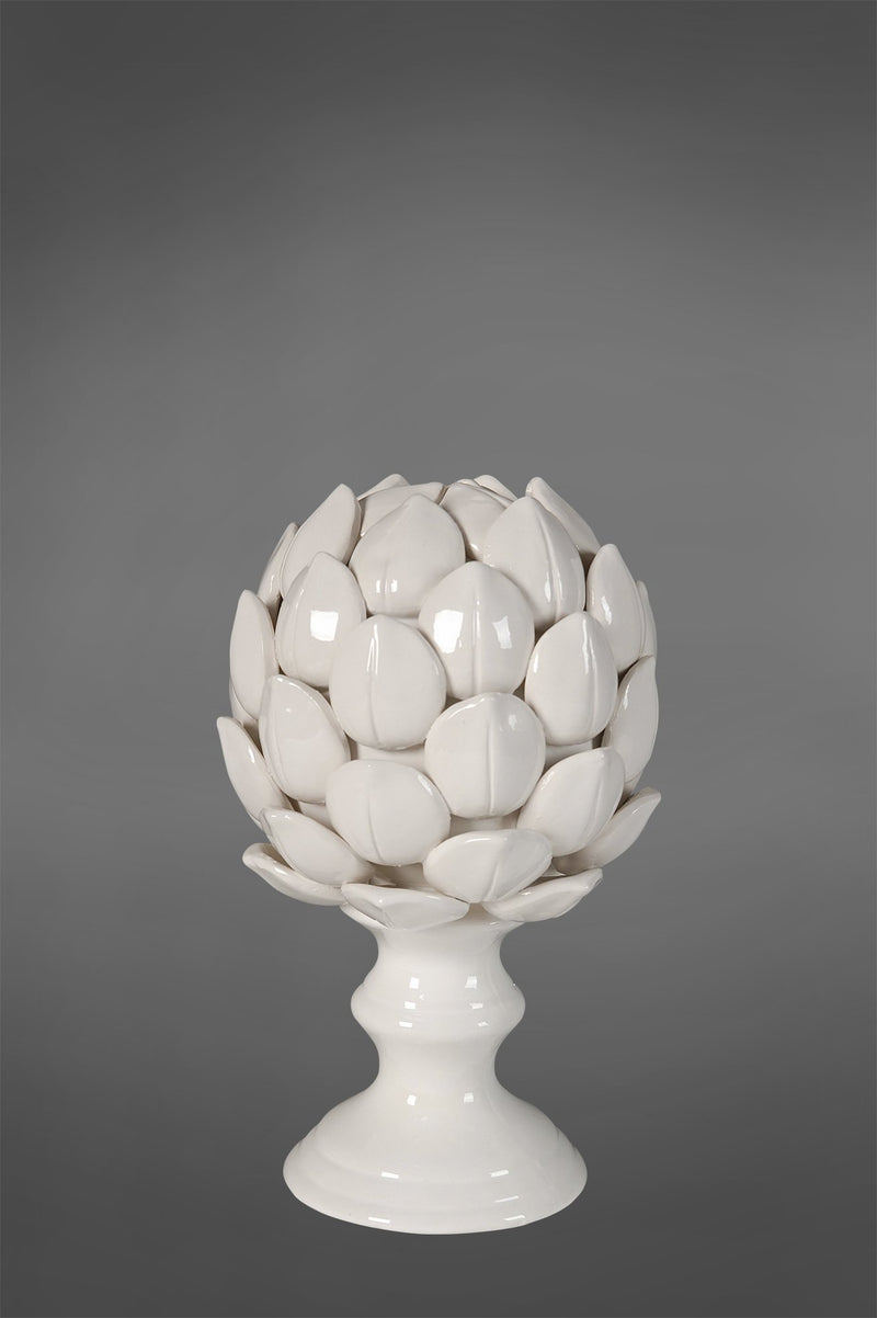 Artichoke Large - White - Glazed Ceramic Decorativ e Articoke