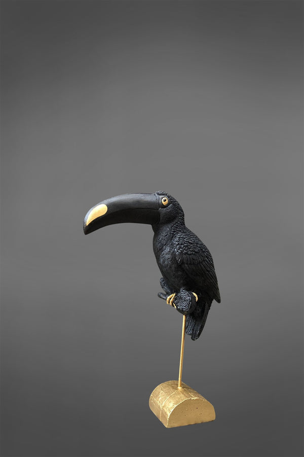 Salvador - Black/Gold - Toucan on Stand