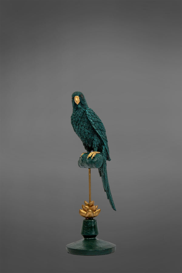 Tara - Teal/Black - Parrot on Stand