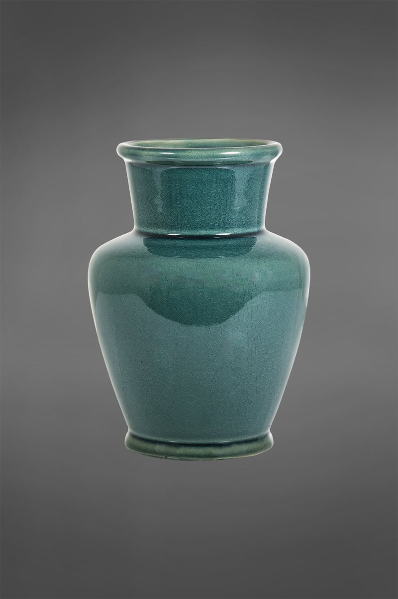 Ocean Vase - Teal - 23cm Tall Glazed Ceramic Vase