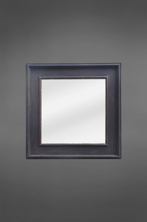 Bourke - Black - 70cm Square Wood Framed Mirror