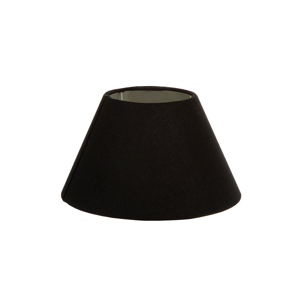 XS Taper Lamp Shade (10x6.5x7 H) - Black with Silver Lining - Linen Lamp Shade with E27 Fixture