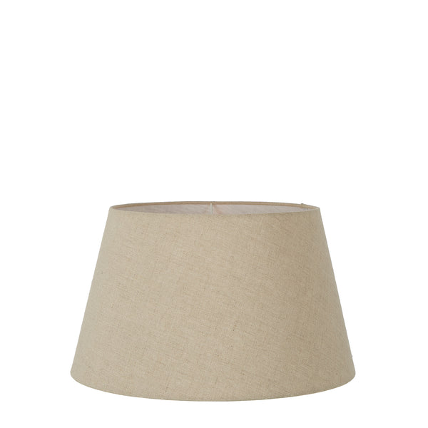 XS Taper Lamp Shade (10x6.5x7 H) - Dark Natural Linen - Linen Lamp Shade with E27 Fixture