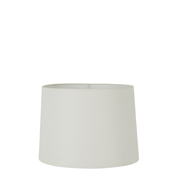 XS Drum Lamp Shade (10x8.5x7 H) - Textured Ivory - Linen Lamp Shade with E27 Fixture