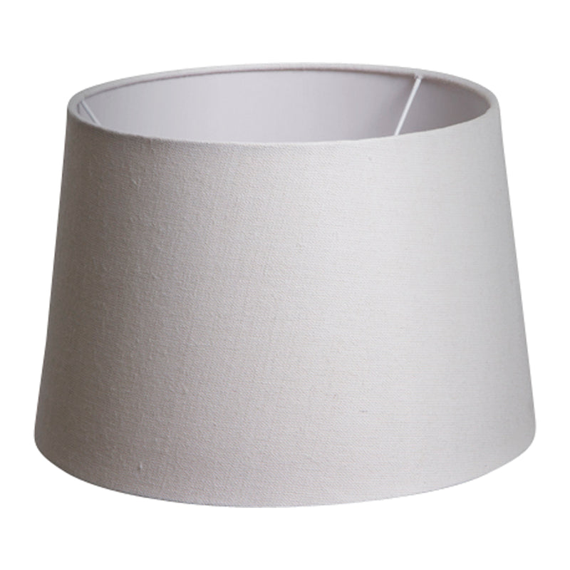 Small Drum Lamp Shade (12x10.5x8 H) - Textured Ivory - Linen Lamp Shade with E27 Fixture