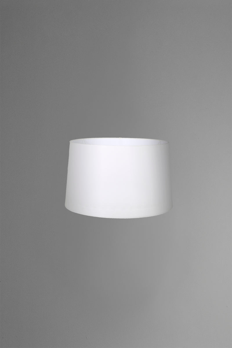Medium Drum Lamp Shade (14x12x9.5 H) - Textured Ivory - Linen Lamp Shade with B22 Fixture