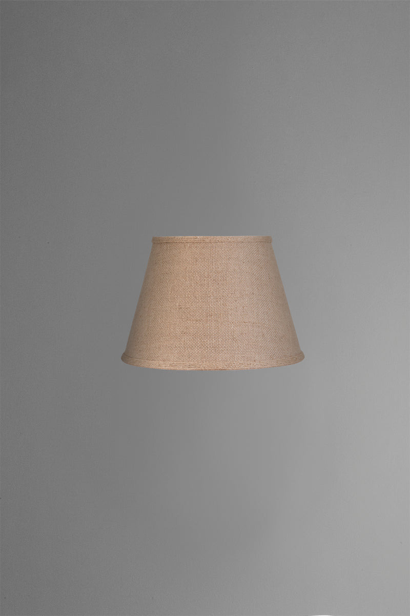 Medium Taper Lamp Shade (14x9x9.5 H) - Jute - Jute Lamp Shade with Collar and E27 Fixture