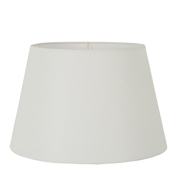 XL Taper Lamp Shade (18x13x10 H) - Textured Ivory - Linen Lamp Shade with E27 Fixture