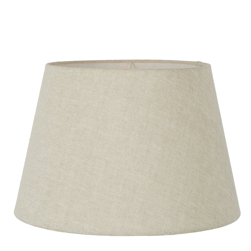 XL Taper Lamp Shade (18x13x10 H) - Light Natural Linen - Linen Lamp Shade with E27 Fixture