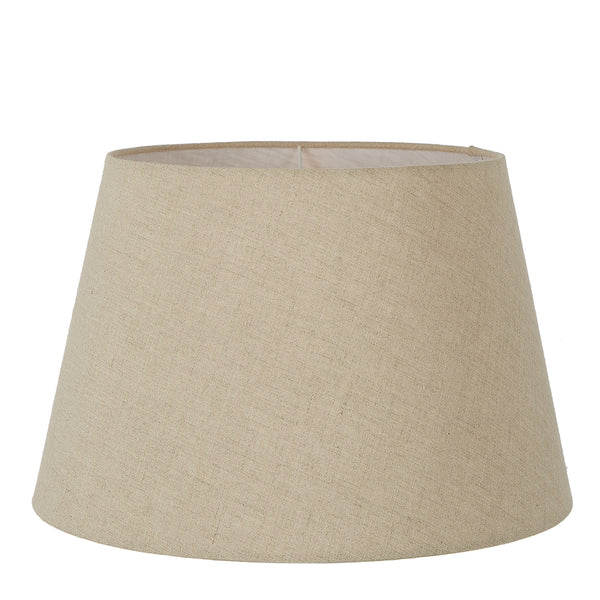 XL Taper Lamp Shade (18x13x10 H) - Dark Natural Linen - Linen Lamp Shade with E27 Fixture