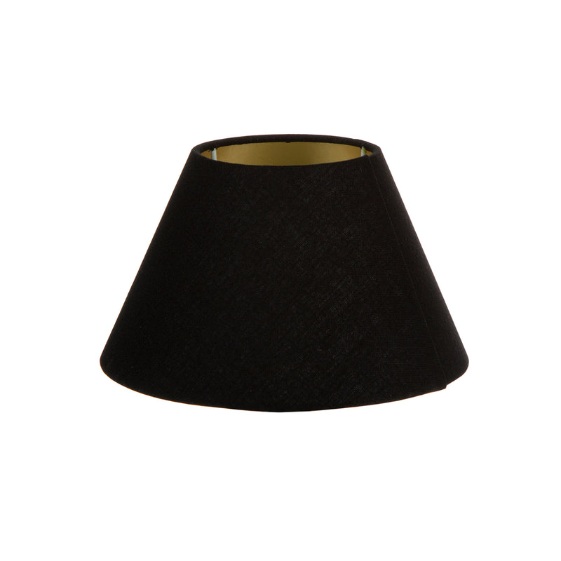 XXS Taper Lamp Shade (8x4x5 H) - Black with Gold Lining - Linen Lamp Shade with B22 Fixture